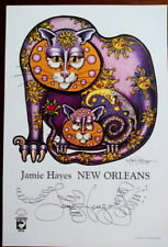 SUN & MOON KITTIES, CAT art PRINT Jamie Hayes SIGNED LITHOGRAPH New Orleans