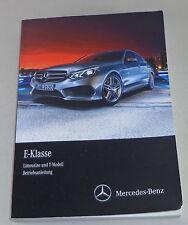 Instrucciones Servicio Mercedes Benz Clase E W212 E200/250 Cdi Etc. Stand 2015