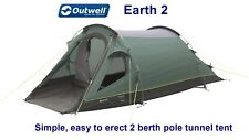 Outwell Earth 2 Tent - Simple, easy to erect 2 berth pole tunnel tent