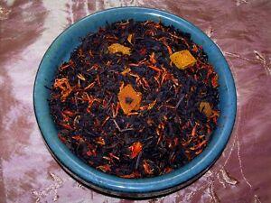 Tea Peach Mango Black Fruit Sonata Flavored Loose Leaf Aged Tea Blend Natural