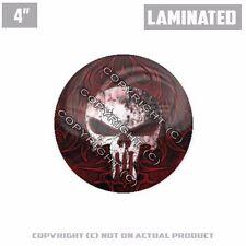 """1 Custom Thick Laminated Glossy 4"""" 3M Premium Decal Sticker - PUNISHER SKULL"""