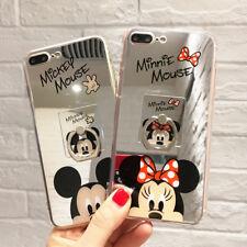 Para Samsung S10+ 9 Lindo Minnie Hello Kitty Note Espejo Funda & Soporte De Anillo