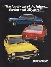 1975 VW Volkswagen Dasher 16-page Original Car Sales Brochure Catalog - Passat