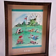 "Vintage Gary Patterson ""On The Green"" Golf Comic Cartoon Collectible Wall Clock"