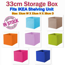 }} 33cm storage toy box cube bin fit shelving unit organizer cv