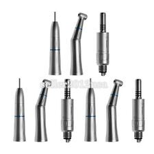 3 Kits Dental Winkelstück Low Speed Handpiece Straight Nose Cone Air Motor 4Hole