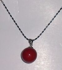 Freshwater Pearl & Sterling Silver NECKLACE....RED....Great Gift....NEW ITEM