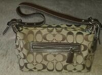 Used Coach Small Hobo Canvas logo Handbag C0726-F06044