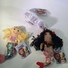 Finger Puppets 2 Mermaids 1 Seal - Lot of 3 by Aurora #06432 #02317