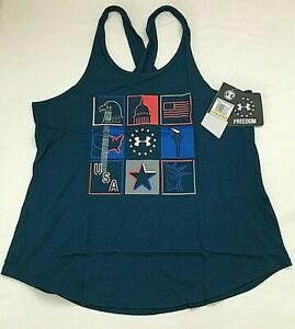 $28 Under Armour 1327577-437 Women's UA Freedom Collage Tank Top, SM/CH, NWT