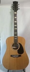 Super Rare Vintage 1970s Horugel by Samick Dreadnought Guitar With Original Case
