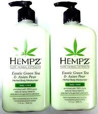 2 PACK Hempz Exotic Green Tea & Asian Pear Moisturizer After Tan Tanning Lotion