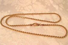 14K Rose Gold 18.5'' VENETIAN fancy Chain Diamond 13.6gr Vintage Neckalce Italy