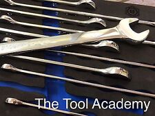 MAY SALE BRITOOL HALLMARK XL LONG COMBINATION SPANNER WRENCH SET IN FOAM 10-19mm