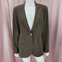 Jones New York Women's Long Sleeve Khaki Green Blazer Jacket Size 12 BNWT