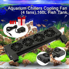 4 Fans Cooling Fan Aquarium Water Tropical Marine Fish Tank Wind Chiller