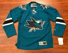 New Reebok Sharks Jersey Sz L Mens Stitched Nhl Hockey San Jose Chandail De