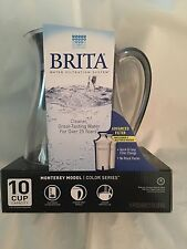 Brita Monterey 10 Cup Water  Filtration  System Pitcher With 2 Filters Included.