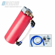 JDM CNC Racing Drift Aluminum Oil Reservoir Catch Can Tank Kit 750ML – Red