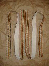 Civil War Handsewn Authentic PoorBoy Braces Tan Gold Stripe Pattern