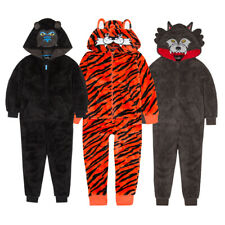 Boys Wolf Gorilla Tiger Halloween Costume All In One Jumpsuit Fancy Dress Scary