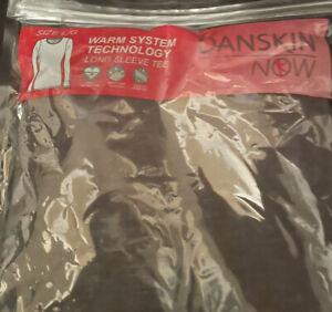 Women's Danskin Now warm system technology long sleeve gray shirt size L New