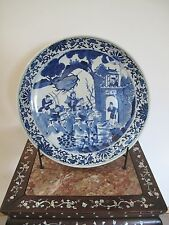 Exquisite Large Chinese Blue & White Porcelain Plate Late Qing ~ Republic 17""