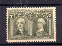 Canada 1908 7c Quebec mint LHM SG192 Cat Val £90 WS19638