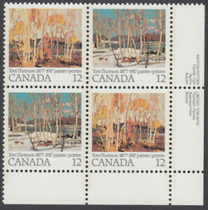 Canada - #734a With 734ii (Dot Above D) Tom Thomson Paintings Plate Block  - MNH