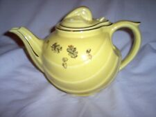 New listing Hall Tea Pot: Yellow w/Gold Trim & Oak Leaves & Acorns; See Details