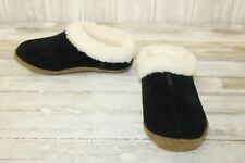 SOREL Nakiska Suede Slipper Shoes, Women's Size 5, Black