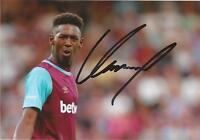 WEST HAM: REECE OXFORD SIGNED 6x4 ACTION PHOTO+COA