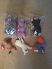Lot of 6 Ty Beanie Babies McDonald's Happy Meal Toys 1993