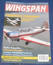 WINGSPAN MAGAZINE AUGUST 1993 - FRIENDLY INVASION THE RUSSIANS ARE HERE