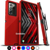 +For Samsung Galaxy Note 20 / 20 Ultra Shockproof Rugged Case Cover + Belt Clip