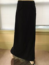 CLASS ROBERTO CAVALLI $1,500 Black Maxi Skirt Sz 12 US embroidered C pockets EUC
