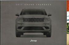 2017 Jeep Grand Cherokee Overland Trail Hawk SRT FL Sales Brochure W/Buyes Guide