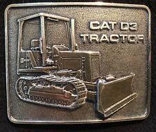 Caterpillar Tractor CAT D3 Tractor Vintage Belt Buckle