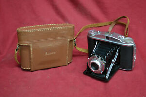 Ansco Speedex 4.5 Folding Camera German made by Agfa -WITH MANUAL & CASE