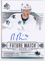 14-15 SP Authentic Mirco Mueller /999 Auto Rookie Future Watch Sharks RC 2014