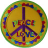 Peace Sign Symbol Love Iron On Patch Sew On Clothes Bag Hippie Embroidered Badge