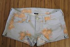 American Eagle Outfitters AE Women's Floral Stretch Jean Sz 4 Beach shorts Blue