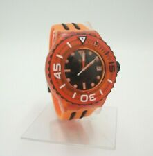 Swatch Watch Orange with Black Accents