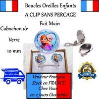BOUCLES D'OREILLES ENFANT LA REINE DES NEIGES ELSA ANNA A CLIP SANS PERÇAGE E16