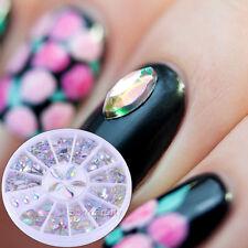 3.6mm-4.8mm Nail Art Strass Nagel Glitzersteine Charms Sticker UV Gel Dekoration