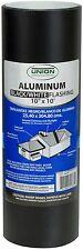 Roll Flashing General Purpose Black Finish Aluminum 10 X 10 Ft Union Corrugating