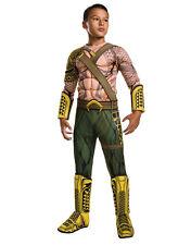 "Batman v Superman Kids Aquaman Dlx Costume,Large,Age 8 - 10, HEIGHT 4' 8 - 5' 0"""