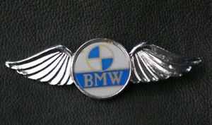 MOTORCYCLE Pin Badge BMW Wings