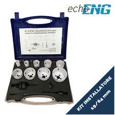 Seghe a tazza bi metalliche 9 pz 19 - 64 mm frese set valigetta UT 10 STG3