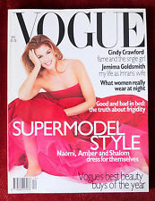 Vogue British ~ December 1995 ~ Cindy Crawford Laura Bailey